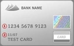 A bankkártya előlapja